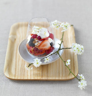 Timbale de fruits frais à la vanille
