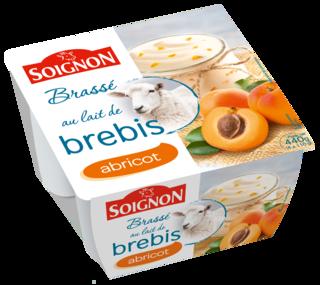 Yaourt brassé abricot au lait de brebis