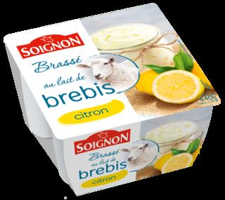 Yaourt brassé citron au lait de brebis
