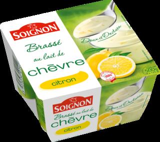 Yaourt brassé citron au lait de chèvre