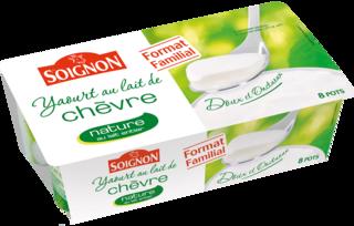 Yaourt nature au lait de chèvre format familial